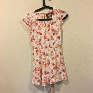 NWT Reformation orange and white floral dress